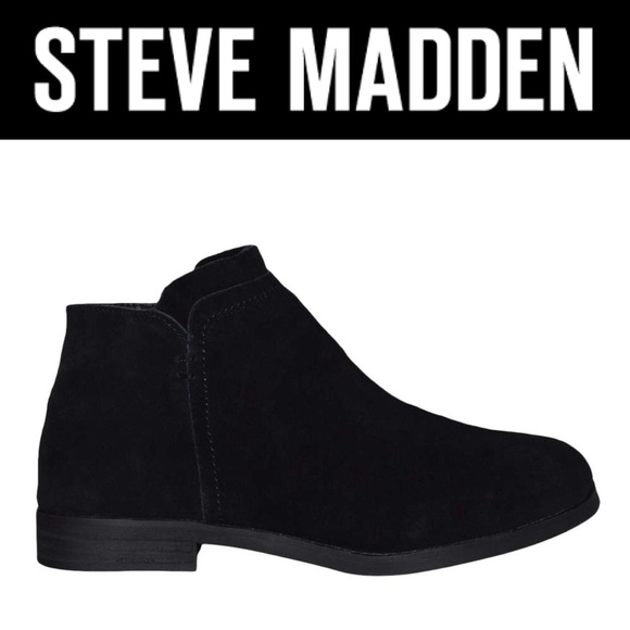 bcfdf3bef5d Steve Madden Rimas black suede ankle boots sz 8.5